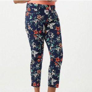 Roz & Ali Blue Floral Pull On Pants